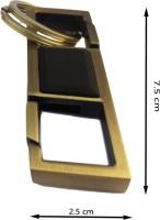 CS Innovativly Yours Metal Hook Carbiner Locking Key Chain (golden)