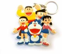 Techpro Singlesided Doraemon Family Key Chain (Multi Color)