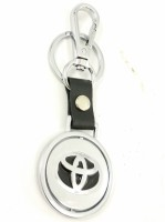 Singh Xpress 360 Degree Rotating Toyota Logo - Key Chain - Car And Bike - Premium - Accessories Stainless Steel Standard Size - Logo Challa With Locking Holder Locking Carabiner (silver)