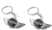 Ezone Cooper Car,Bike,Bag Locking Spring Gate_Pack Of 2 Key Chain (Black)