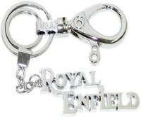 FCS Royal Enfields Hooks Locking Key Chain (Silver)