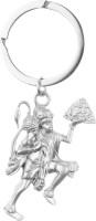 Confident KC93 Metal Silver Color JAI HANUMAN GOD Key Chain (Silver)