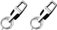 City Choice Combo Of 3677 Locking Key Chain (Black & Chrome)