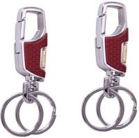 City Choice Combo Of Omuda 3718 Locking Keychain (Chrome & Brown)