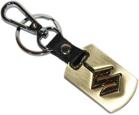 Aura Maruti Suzuki Cars Detachable Logi Full Metal Imported Locking Keychain (Gold)