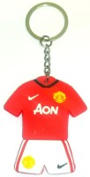 AA Retail Double Side Silicone Manchester United Keychain (Red, White)