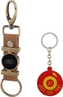 JLT Premium Long Ford Car Logo Locking Key Chain (Multicolor)