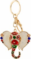 Yellow Chimes Blessing Ganesha Locking Key Chain (Multicolor)