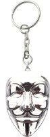 JM's Vendetta Alloy Silver Mask Key Chain (Silver)
