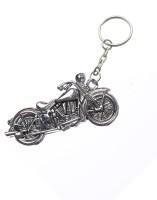Confident KC58 Royal Enfield Bike Metal Key Chain (Silver)