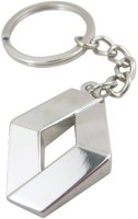 Oyedeal Renault Full Metal Key Chain (Silver)