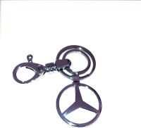 Ezone Full Imported Metal Mercedes Benz Locking Key Chain (Silver)
