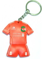 AA Retail Liverpool FC Double Side Silicone Key Chain (Red, White)