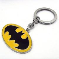 Chainz Metal Batman Keychain (Yellow, Black)