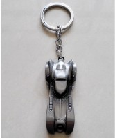 Optimus Traders Batman Batmobile 3D Logo Metal Keychain Keyring Locking Key Chain (silver)