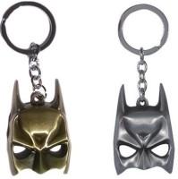 Chainz Pack Of 2 Metal 3D Batman Mask Keychain (Silver, Golden)