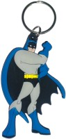 AA Retail Double Side Silicone Batman Key Chain (Blue, Grey)