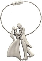 Sigma Love Couple Bent Gate Key Chain (Silver)