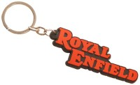 TAG3 Royal Enfield Silicon Font Key Chain (Red)