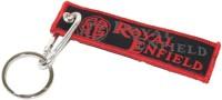 Aura Royal Enfield Hook Locking Keychain (Red, Black)