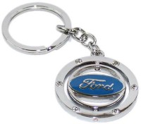 Aura Imported Revolving Ford Full Metal Key Chain (silver)