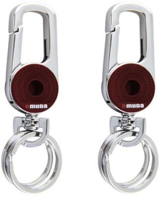 Omuda Combo of Omuda 3709 Brown Locking Keychain