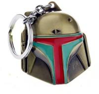 Optimus Traders New Movie Star Wars Bounty Hunter Boba Fett Mask 3d Metal Key Chain (Gold)