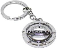 Aura Imported Revolving Nissan Full Metal Key Chain (Silver)