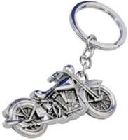 Huntzone Bullet Bike Metallic Keychain Key Chain (Silver)