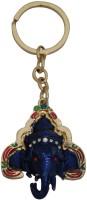 Aaradhi Divya Mantra Siddhi Vinayaka Right Sided Trunk Ganesha Head Locking Key Chain (Blue)