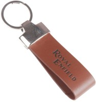 TAG3 Royal Enfield Leather Logo Key Chain (Brown)