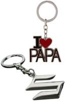 Chainz I Love Papa And Suzuki Metal Keychain (Multicolor)