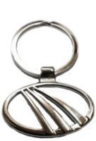 Ezone Full Metal Mahindra Metal Curved Gate Key Chain Carabiner (Silver)