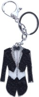 Dealfinity Studded Groom Black Suit Metal DKYCN1572 Locking Key Chain (Multicolor)