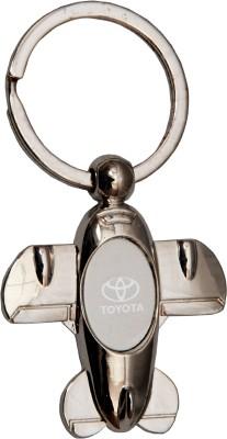 Oyedeal Car Logo Toyota Aeroplane Key Chain Silver