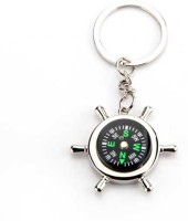 99dailydeals R45 Silver Metallic Key Chain With Compass For Car Auto Bike Cycle Home Key Ring (MultiColour)
