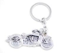 Forty Creek Metallic Bullet Bike Locking Key Chain (Silver)