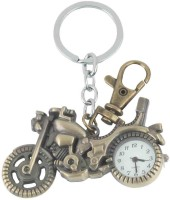Kairos Designer Motor Bike Pocket Watch Clock Keychain (Brown)