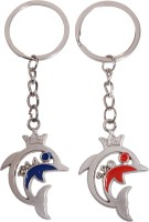 Oyedeal Kycn572 1314 Forever 520 I Love You Couple Dolphin Key Chain (Multicolor)