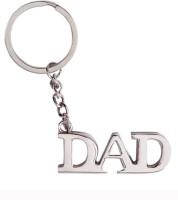 Confident Metal Dad Keychain (Silver)