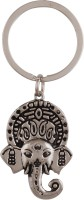 JLT Metal Carved Ganesha Head Key Chain (Silver)