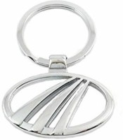 Ezone Mahindra Car Metal Curved Gate Key Chain Carabiner (Silver)