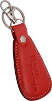 Zeroza Royal Enfield Leather Metal RE21 Locking Key Chain (Brown)