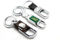SRPC Combo Of Omuda Stylish Locking Key Chain (Brown, Green, Silver)