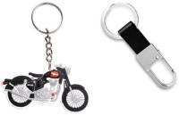 Chainz Royal Enfield Rubber Bike And Leather Hook Metal (Multicolor)