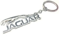 Ezone Jaguar Chrome Plated Steel Imported Key Chain Key Ring Car Logo (Silver)