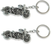 Chainz Pack Of 2 Metal Chopper Bike Keychain (Silver)