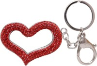 Oyedeal Valentines Special Studded Heart Key Chain (Red)