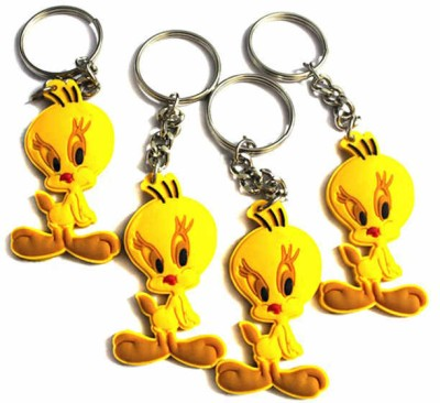 Tweety Aarti Creation Cute Tweety -Set Of 4 Key Chain