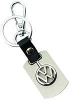 Ezone Volkswagen Car Alloy Metal Logo Locking Key Chain (Black, Silver)